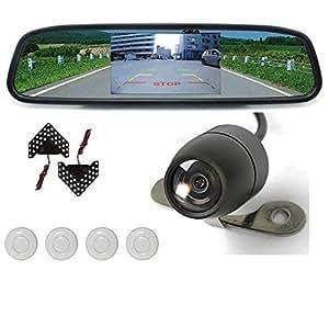CAR PARKING WHITE SENSOR,CAMERA, LCD MONITOR WITH 27 LED MIRROR SIGNAL