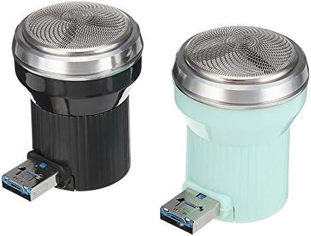 Bluelover Mini Portátil De Afeitadora Eléctrica Maquinilla De Afeitar Barba Interfaz para Hombres Mujeres Conector USB Teléfono Uso - Negro: Amazon.es: Hogar