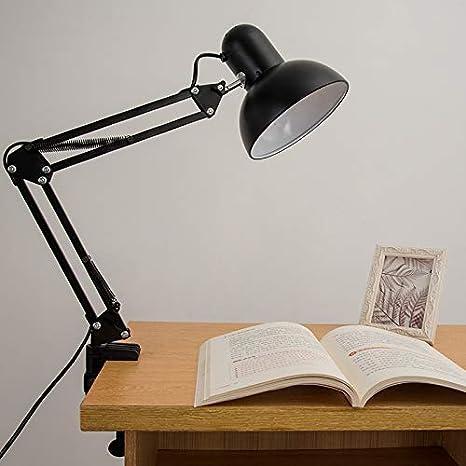 LED de hierro forjado, protección para los ojos, lámpara de mesa ...