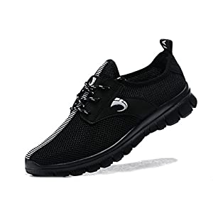 VIPMY Men's Walking Shoes Lightweight Sneakers Mesh Breathable Running Shoes Casual Athletic Fitness Shoes