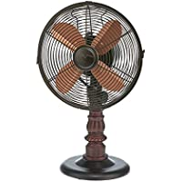 DecoBREEZE Oscillating Table Fan 3-Speed Air Circulator Fan, 10-Inch, Kipling