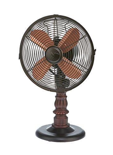 DecoBREEZE Oscillating Table Fan 3 Speed Air Circulator Fan, 10 In, Kipling