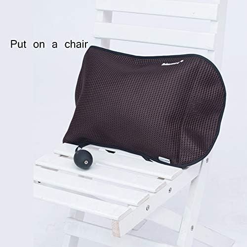 JIASHU Sitzbund, aufblasbares Kissen für die Lordosenstütze, lindert Rückenschmerzen, geeignet für Autositze, Büros, Computerstühle und Rollstühle