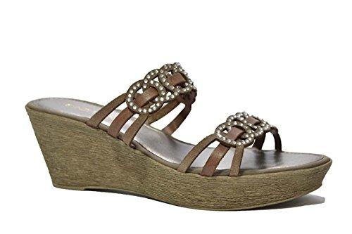 Cinzia Soft Ciabatte zeppa marrone scarpe donna 13219