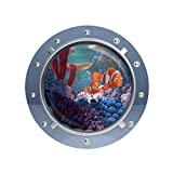 Submarine Paradise Submarine Shark Seascape Children's House Wall Sticker Waterproof, D