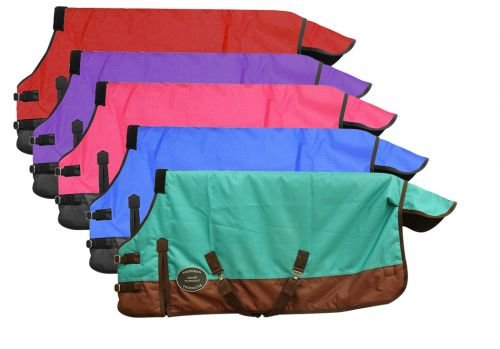 Showman Adjustable 36''-40'' 1200 Denier Winter FOAL/Mini Horse Blanket (Pink/Black) by Showman