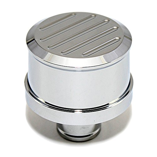 Assault Racing Products A6101C-1 Chrome Ball Mill Top Aluminum Push In Breather - Cap Breather Chrome
