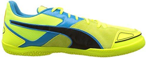 Puma Invicto Sala Herren Fußballschuhe Gelb - Jaune (Safety Yellow/Black/Atomic Blue)