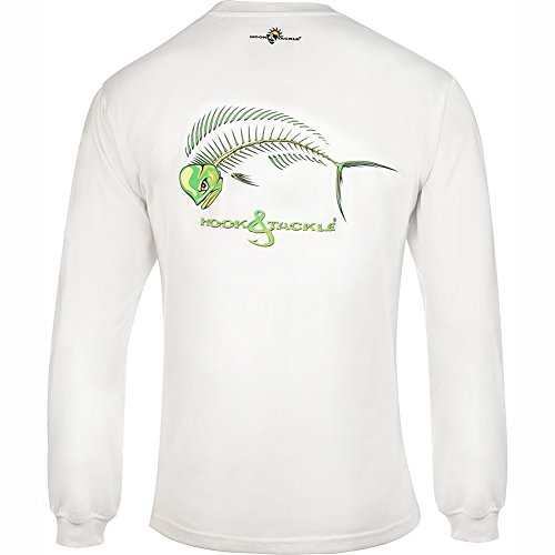 Men's Bull Dolphin XRay Long Sleeve Fishing Shirt White XXLarge