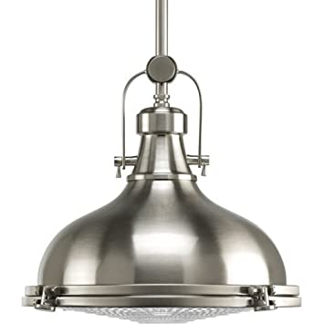 Progress lighting p5188 09 fresnel collection 1 light pendant progress lighting p5188 09 fresnel collection 1 light pendant brushed nickel mozeypictures Image collections