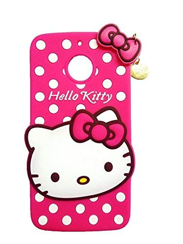 new york 8ad06 9e29b Qzey Nice Kitty Cover for Motorola Moto E4 Plus - Pink