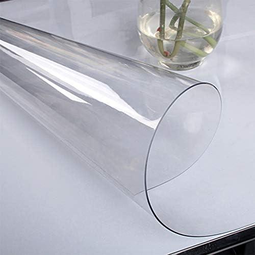 コーヒーティーダイニング卓上用の透明スクラブテーブルクロス、パーティー防塵ローズ柄軟質ガラス R/4/30 (Color : Transparent 2.0mm, Size : 90x160cm)
