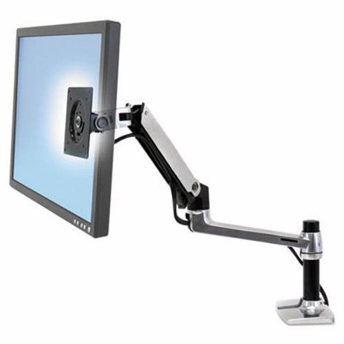 Ergotron 45241026 LX Series LCD Arm, Desk Mount, Polished Aluminum/Black