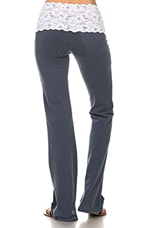 7be8a47697d329 Image Unavailable. Image not available for. Color: Chatoyant Lace Waist  Yoga Pants