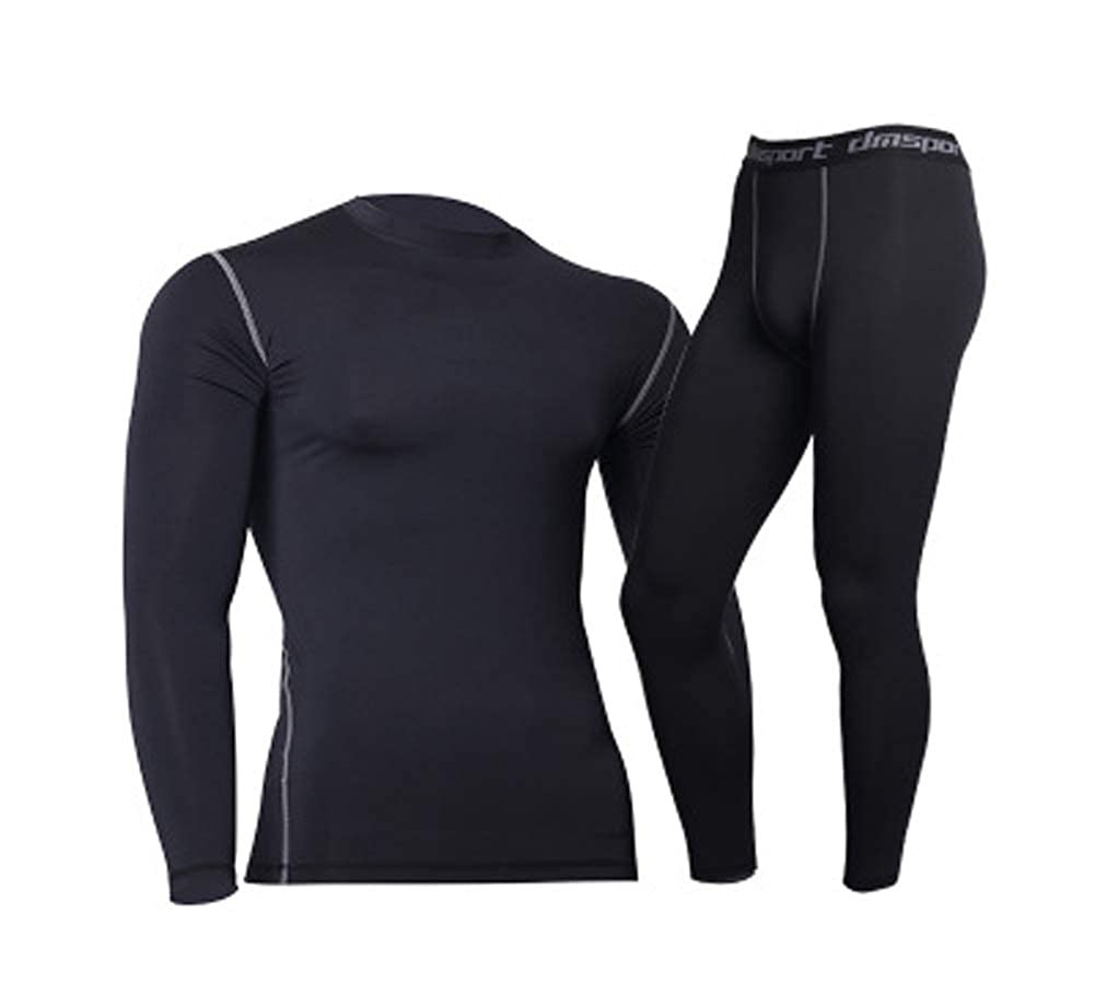 JANYN Men/'s Compression Active Sets Quick Dry Base Layer Top /& Bottom Pack