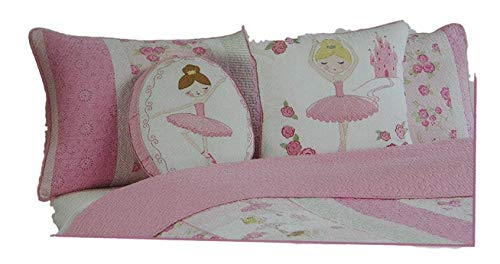 - Lyla Rose Pink Ballerina Quilted Standard Sham