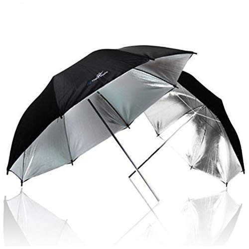 (LimoStudio 2 x 33 Double Layer Black/Silver Photo Studio Reflector Umbrella, AGG127)