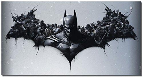 Picture Sensations Framed Canvas Art Print, Batman DC Comics Super Hero, Joker Print, Batman Art, Batman Wall Canvas Art - 36