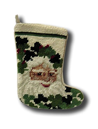 Irish Santa Stocking Needle point Christmas Xmas Holiday Seasonal Sk-722S