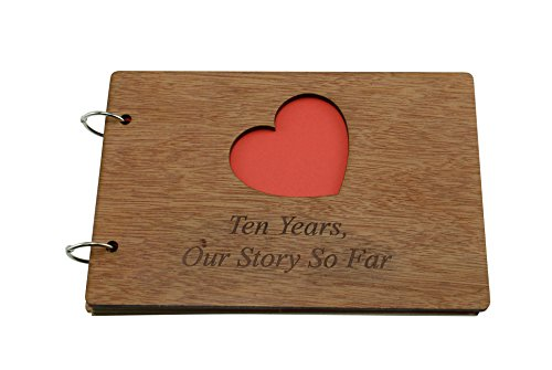 10 Years Our Story So Far - Scrapbook, Photo album or Notebook Idea For 10th Anniversary -