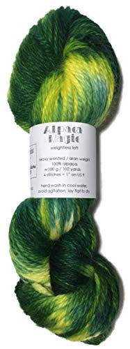 (Hand Dyed Baby Alpaca Yarn, Hand Painted: Spring Solstice, Heavy Worsted Weight, 100 Grams, 102 Yards, 100% Baby Alpaca)