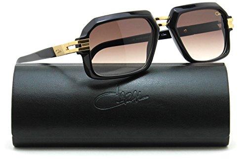 Cazal 6004 Vintage Square Unisex Sunglasses 001 - Black - Cazal Vintage