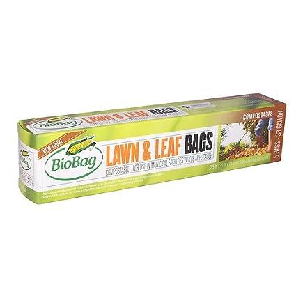 BioBag Lawn U0026 Leaf Bio Bags, 33 Gallon (32.5u0026quot; X 41u0026quot;)