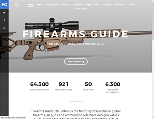 Firearms Guide 7th Edition ONLINE - Presents 64,300 guns and 6,300 gun schematics - with Gun Values!