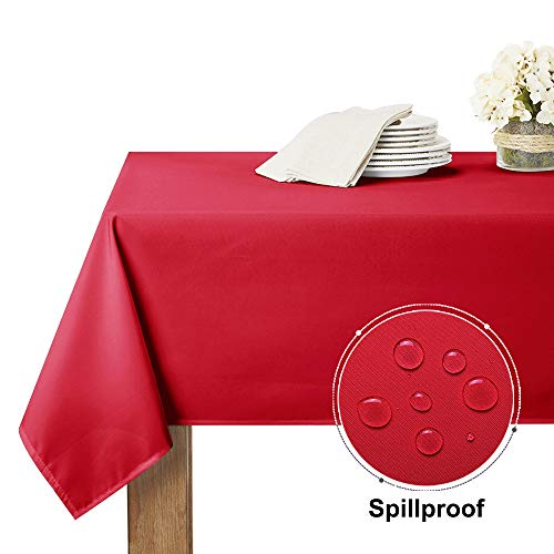 - RYB HOME Outdoor Tablecloth for Patio Garden Tabletop Decor, Catering Folding Tables 8 Foot, Wrinkle Free Spillproof Linen for Potluck/Brunches, 60 x 120 inch Long, Rio Red