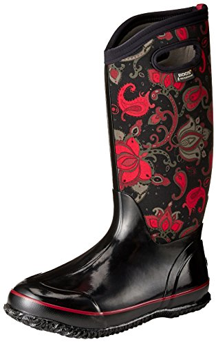 Paludi Womens Classic Paisley Winter Snow Boot Black / Multi