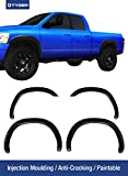 Tyger Auto TG-FF6D4198 for 2002-2008 Dodge Ram 1500; 2003-2009 Ram 2500 3500 (ONLY Fit 6.5' Truck Bed) | Paintable Fine-Textured Matte Black OE Style Fender Flare Set, 4 Piece