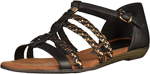 Tamaris 1-28108-28 Womens Sandals Black 9VE9fuh