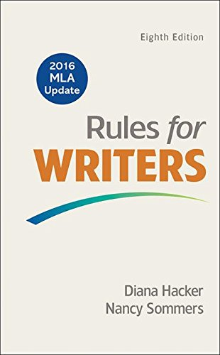 Rules for Writers with 2016 MLA Update cover