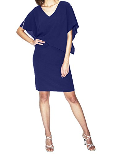 Partykleider Abendkleider Dunkel Charmant Brautmutterkleider Royal Etuikleider Ballkleider Promkleider Blau Royal Knielang Blau Damen qIrqOvY