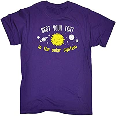 Funny Kids Childrens T-Shirt tee TShirt Best Your Text In The Solar System