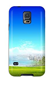 Hot 6134047K85770511 New Arrival Premium S5 Case Cover For Galaxy (city At Beach Fantasy)