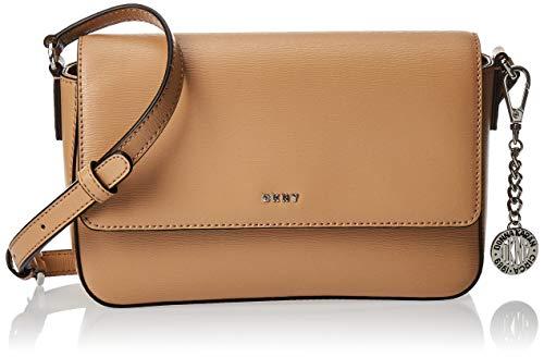 DKNY Saffiano Leather Bryant Flap Crossbody (braun_hellbraun, braun)