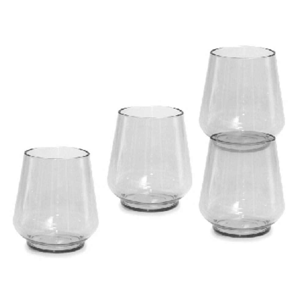 Tritan Soft Drink Water Glasses (4 Pack) (Clear)