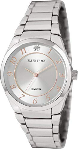 Ellen Tracy Women's Quartz Metal and Alloy Casual Watch, Color:Silver-Toned (Model: ET5293SL)