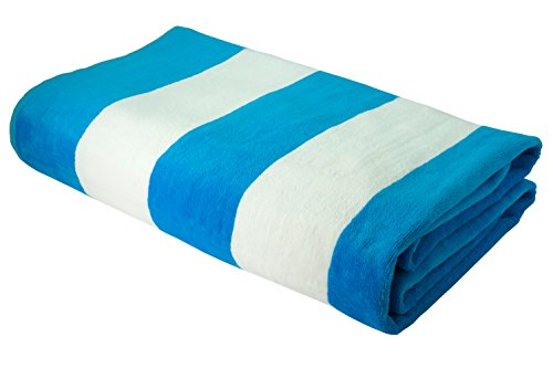 Beach Towel for Women Turkish Cabana Stripe 100% Cotton Soft Europe Quality (Aqua) (Pink Luxe Stripe)