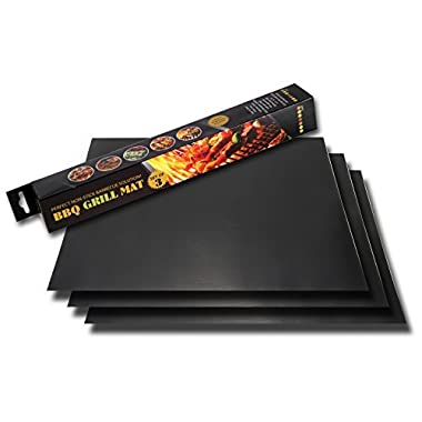Twisted Chef Grill Mat, BBQ Grilling Accessories, Sheets for Gas Grills, Set of 3 Mats, 15.75 x 13