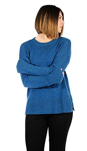 - Gigi Reaume 100% Cashmere Women's Sweater, Cozy Crewneck Pullover (X-Large, Teal)