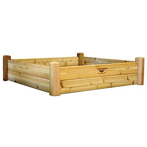 Gronomics RGB 48-48 48-Inch by 48-Inch by 13-Inch Raised Garden Bed, Unfinished