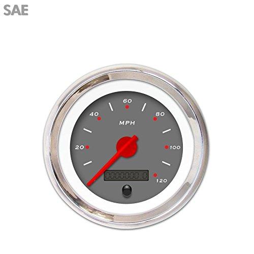 GAR152ZEXHABCE Aurora Instruments Pegged Dark Grey Speedometer Gauge