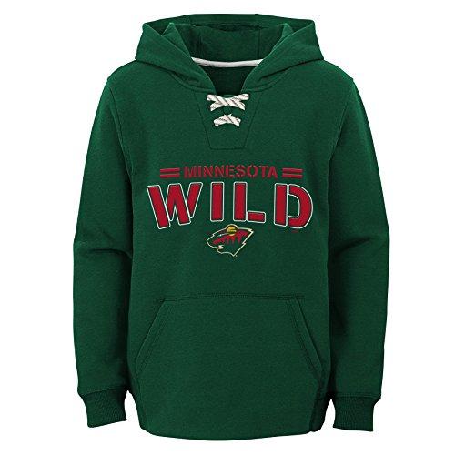 (Outerstuff NHL Minnesota Wild Youth Boys Standard Issue Fleece Hoodie, Large(7),)