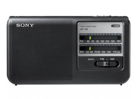 Sony Portable Handy AM/FM Radio with Built-in 3 5/8