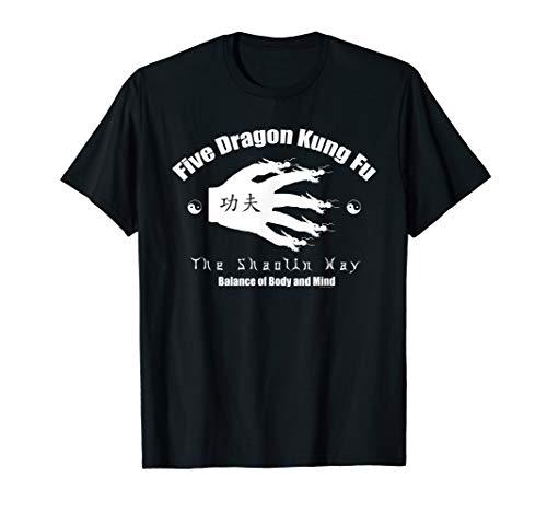 (Shaolin Kung Fu Five Dragon Kids T-shirt)