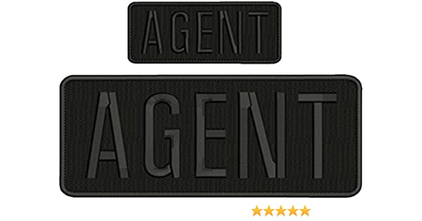 FUGITIVE RECOVERY AGENT EMBROIDERY PATCH 4X10 AND 2X5 HOOK ON BACK BLK//OD