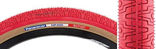 Panaracer HP406 BMX Tire, Wire Bead, Tread/Skin Sidewall, Red