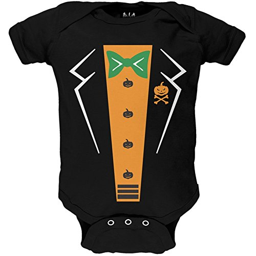 Pumpkin Tuxedo Costume Baby One Piece - 0-3 months (Tuxedo Mask Costume For Kids)